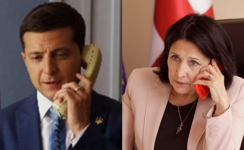 სალომე ზურაბიშვილსა და ვოლოდიმერ ზელენსკის შორის სატელეფონო საუბარი შედგა