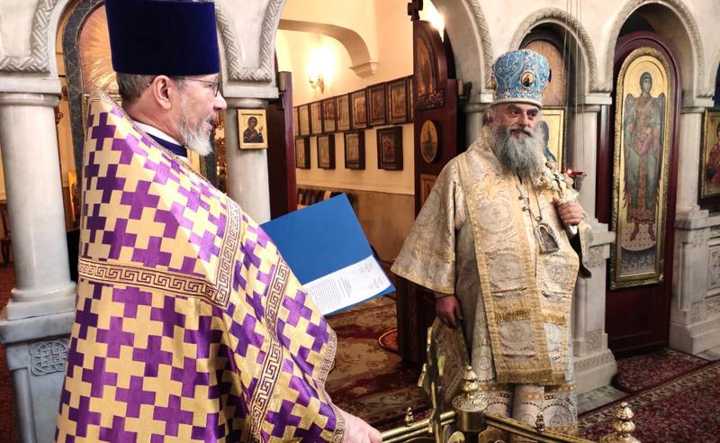ლიტურგია რუსეთის პატრიარქის კურთხევით - მიტროპოლიტი ნიკოლოზი რუსეთშია