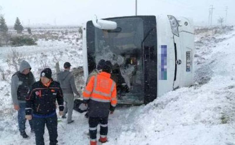 თურქეთში რუსი ტურისტებით სავსე  ავტობუსი ამოყირავდა - არის მსხვერპლი
