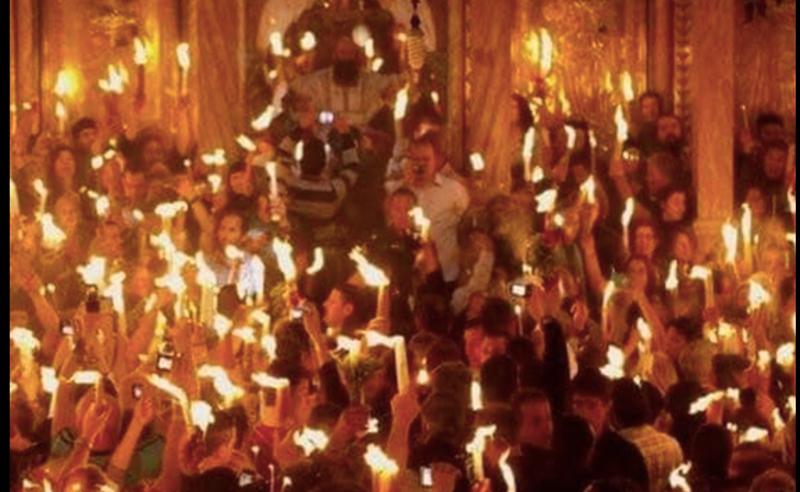 წმინდა ცეცხლს იერუსალიმიდან საქართველოში დღეს, 20:30 საათზე ჩამოიტანენ
