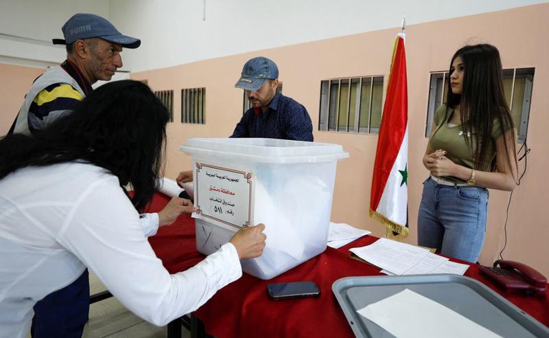 სირიაში საპრეზიდენტო არჩევნები მიმდინარეობს