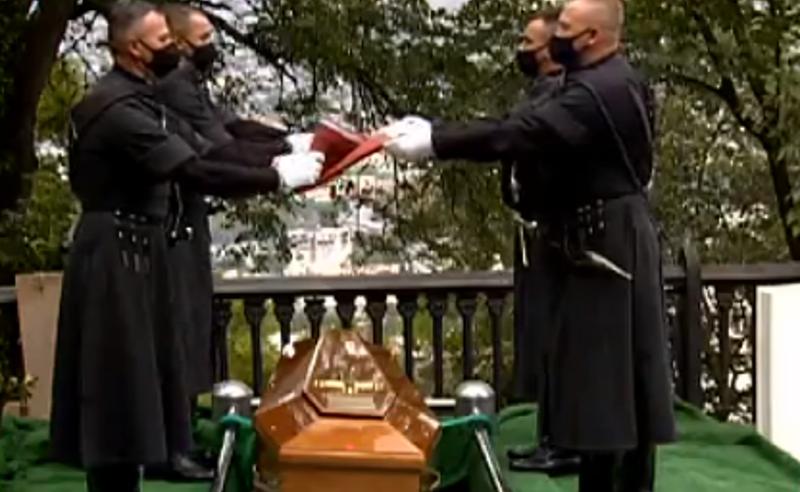 საქართველოს ეროვნული გმირი, გიორგი კვინიტაძე,  მთაწმინდის პანთეონში დაკრძალეს