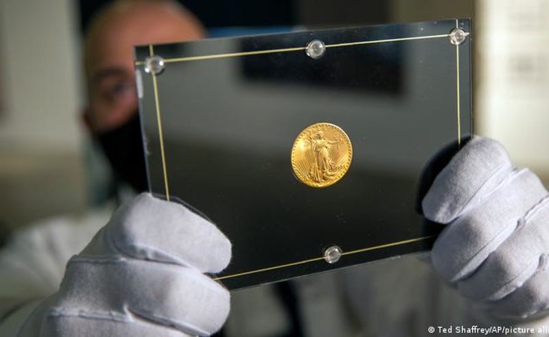""",,სოთბის"""" აუქციონზე ოქროს მონეტა რეკორდულ თანხად, 19,5 მილიონ დოლარად, გაიყიდა"""