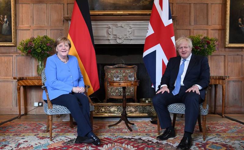 ანგელა მერკელი დიდი ბრიტანეთის პრემიერ-მინისტრს შეხვდა