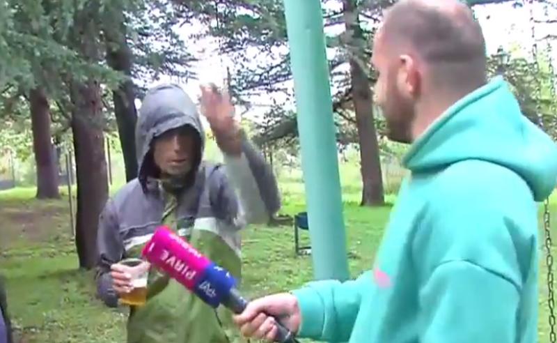 """""""ქართული ოცნების"""" მთვრალი აქტივისტები თელავში """"ტვ პირველს"""" თავს დაესხნენ (ვიდეო)"""